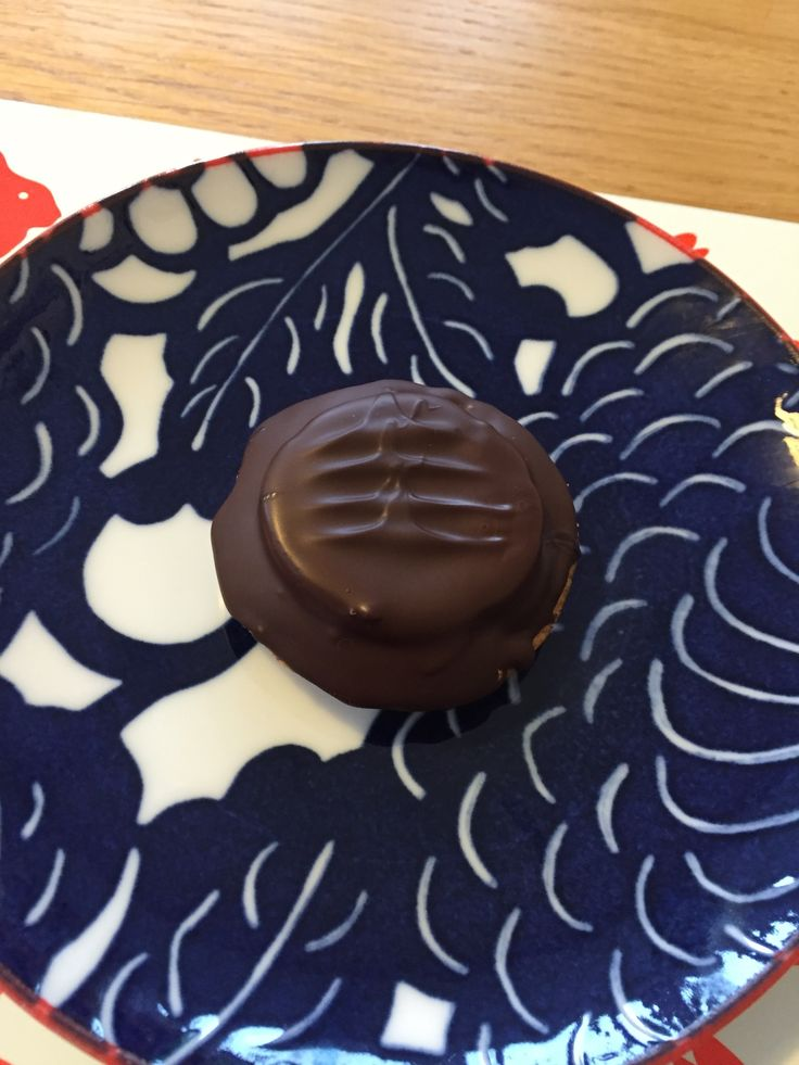 Homemade Jaffa cake.