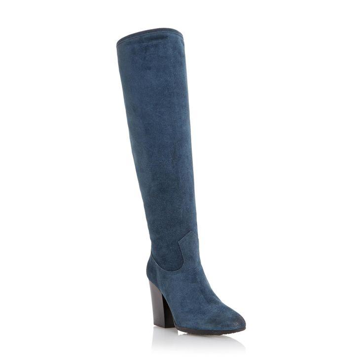 DUNE BLACK LADIES STEPHANIE - Block Heel Knee High Boot - teal | Dune Shoes Online