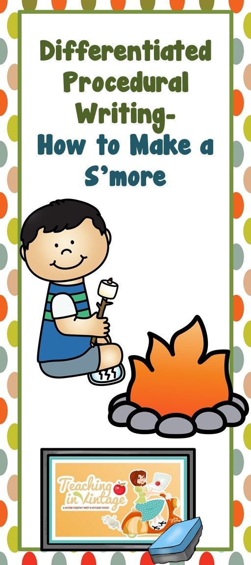 This lesson includes everything you need from start to finish. Kids love Smores and enjoy writing what they love! This lesson also includes differentiation suggestions and templates to accommodate all the different learners in your class.
