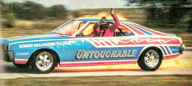 Romeo Palamides' Javelin jet funny car. Gerry Studnicka ...