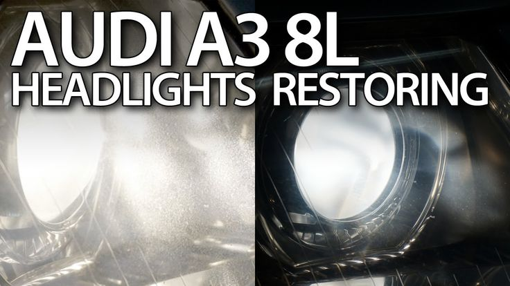 How to #restore #Audi #A3 8L #headlights (foggy lamp polishing #xenon halogen) #cars