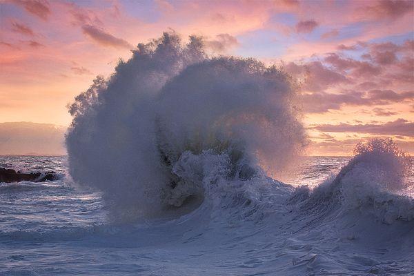 """Rough sea 34"" beautiful seascape print. Available as regular print/canvas stretch/metal/framed. #seascape #print"