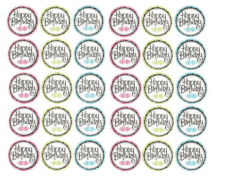 Happy Birthday Cupcake Topper ~ Happy birthday pick toppers free printable digital papers e etiquetas pinterest circles