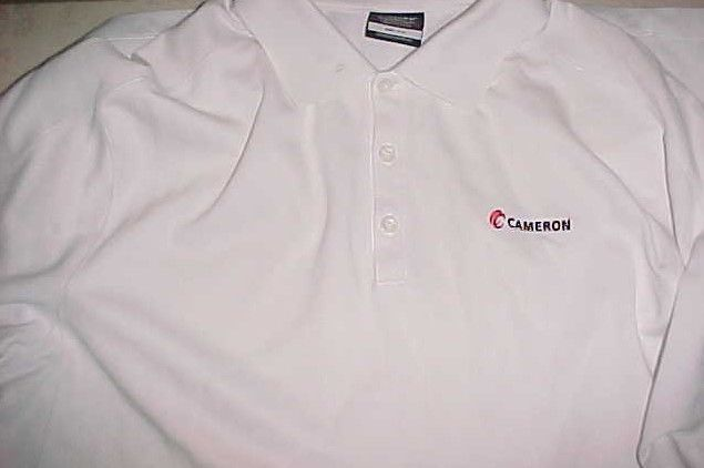 Cameron International Schlumberger Oil Natural Gas Nike White Golf Polo Shirt XL #NikeGolf #PoloRugby