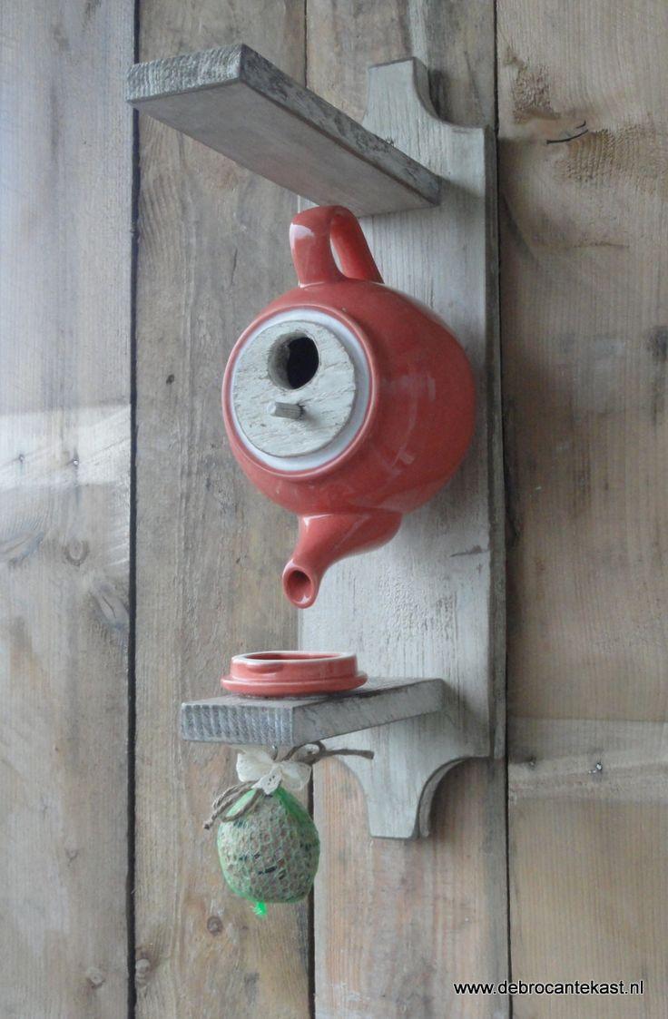 Home Sweet Home Birdhouse Teapot Handmade By I Meijer