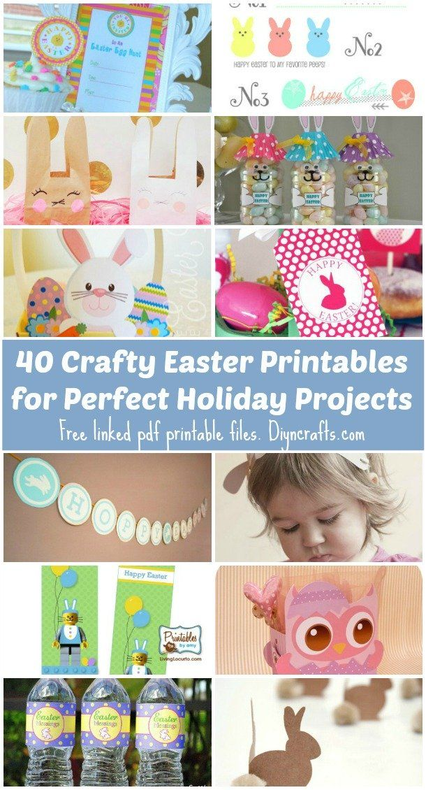 40 Crafty Easter Printables for Perfect Holiday Projects – DIY & Crafts