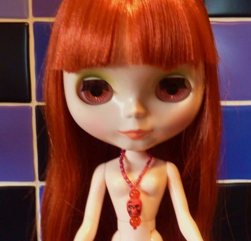Devil Girl Red Skull Necklace for BLYTHE