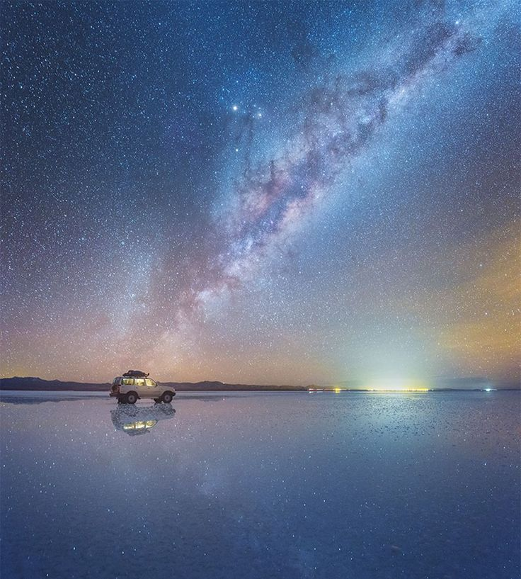 Russian Photographer Captures Breathtaking Photos Of Milky Way Mirrored On Salt Flats In Bolivia