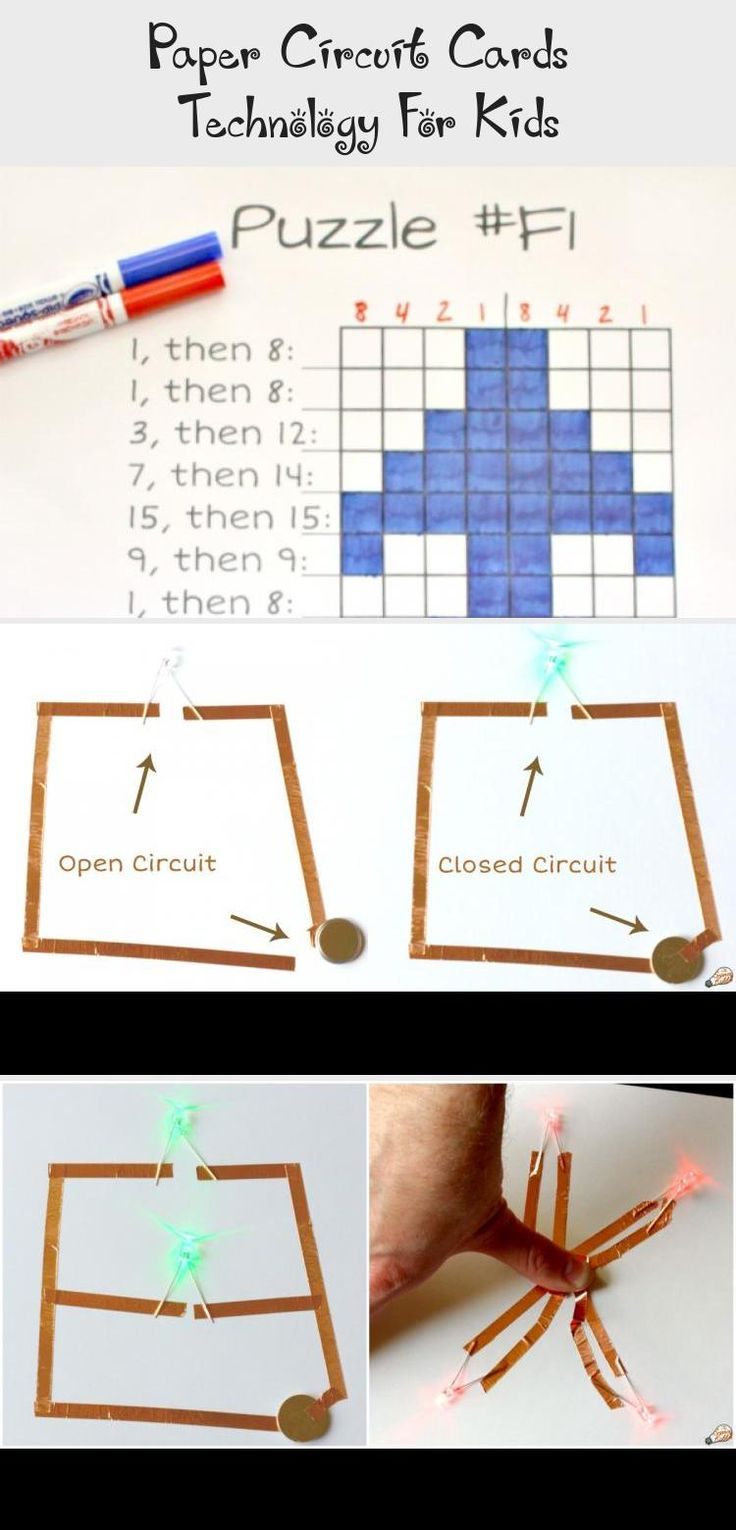 paper circuit cards  technology for kids  technology
