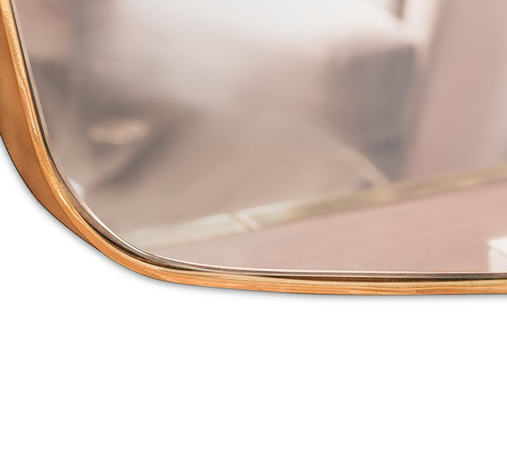 Named after Oscar Wilde, Essential Home presents to you the Wilde Vanity Mirror. The 3 piece item has an irregular shape with a golden strap of plated brass that evokes a mid-century modern style while adding a hint of refinement to any interior. It can be hanged above a sideboard or a console or stand alone and still give that retro look to your bedroom or living room.