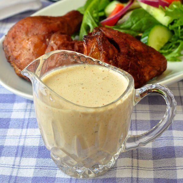 White Barbecue Sauce. An Alabama favourite! More of a condiment than a BBQ sauce this tangy, creamy sauce compliments both smoked & grilled chicken & pork.