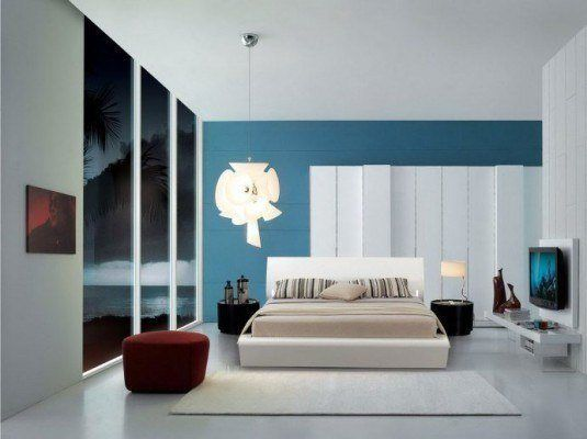 Stylish Blue and White Favorite Interior Design Bedroom Ideas with Modern  White Wood Bed Frame that have Beige Mattress complete with the Bedding and   220 best BEDROOMS images on Pinterest   Bedroom designs  Bedroom  . Stylish Bedroom Design. Home Design Ideas