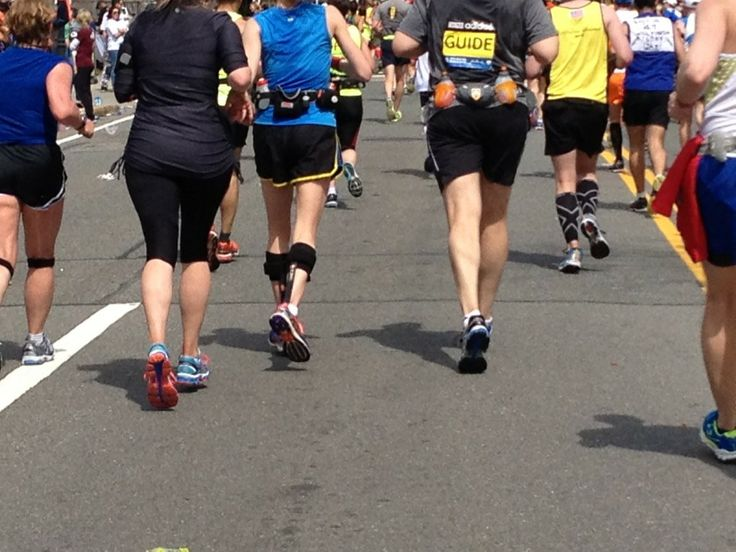 No one wanted to miss this Boston. Folks ran in braces…