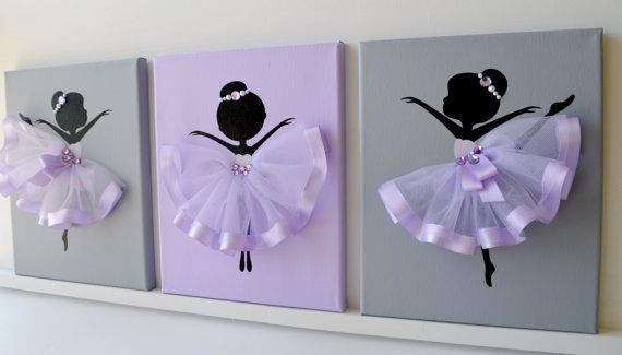 Dancing Ballerinas Wall Decor. Nursery wall art in by FlorasShop