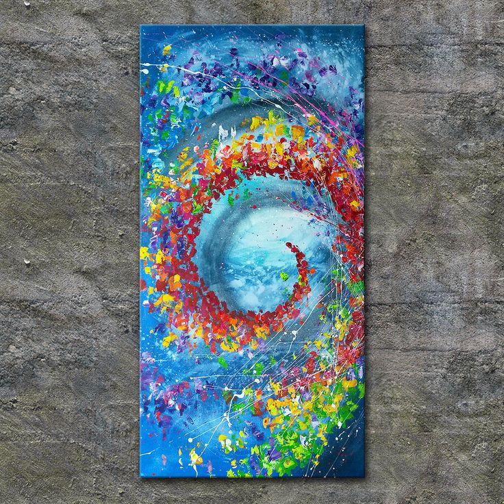 nettis-art Acrylbild Kunst Leinwand handgemalt Malerei Keilrahmen bunt abstrakt in Antiquitäten & Kunst, Direkt vom Künstler, Bildende Kunst | eBay