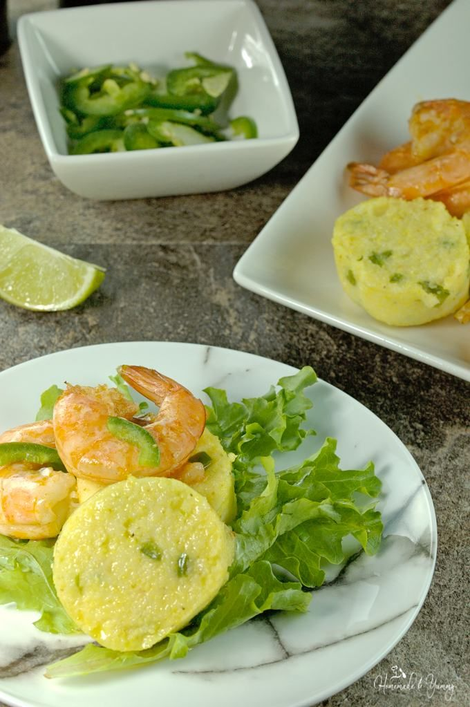 Southwest Shrimp and Grits Salad is a little twist on a classic dish ...