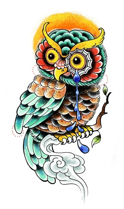Traditional owl tattoo | Neo traditional | Pinterest ...