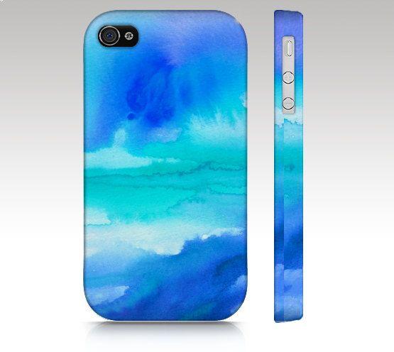 IPhone 5c Fall, iPhone 4 s Fall, iPhone 4 Case, Ombre Iphone 5 s, Aquarell Design, abstrakte Malerei, Aqua blau Türkis, Kunst Iphone Fall
