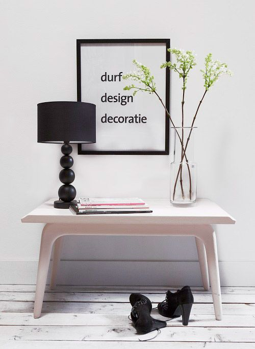 dimago® New Traditionals #krijtverf #chalkpaint kleur kastje en muur : milk . kleur tafel: #babygril #woontrend #interieur #verf