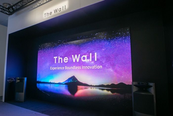292 Inch Samsung The Wall Unveiled At Ise 2019 Samsung Has