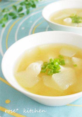やさしい味❀冬瓜のスープ by rose❀ [クックパッド] 簡単おいしい ...