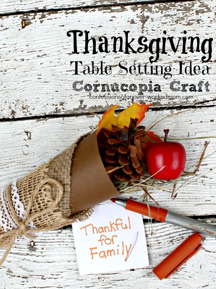 Thanksgiving Place Setting Ideas | Cornucopia Crafts #BICMerryMarking #HarvestOrange  #ad Since we're having Thanksgiving at my house this year, I have been trying to come up with some different Thanksgiving place setting ideas. I want something that I can put on the top of each plate that is festive but not food since there are a variety of food allergies and special diets to deal with in my family.