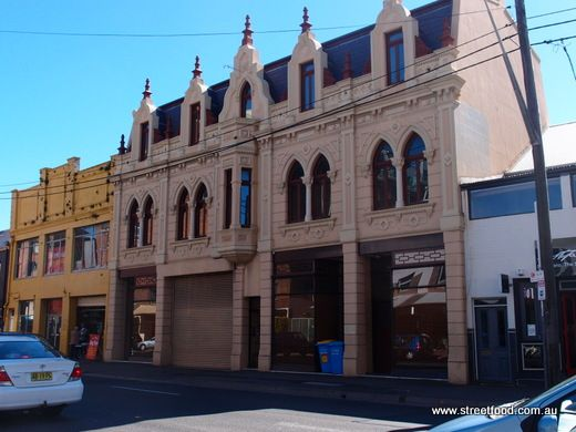 The Trocadero building, derelict for years, now renovated. King St Newtown.