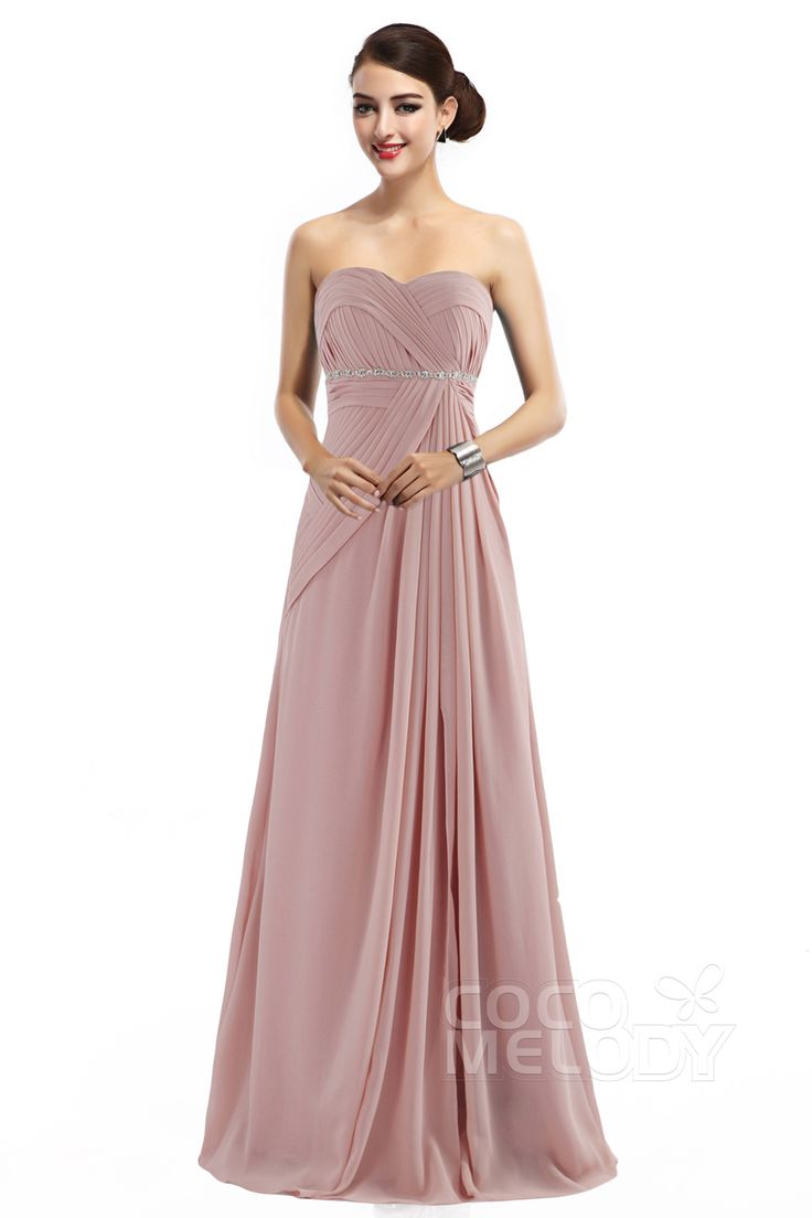 Christmas wedding dress zipper - Latest Sheath Column Sweetheart Natural Floor Length Chiffon Sleeveless Zipper Bridesmaid Dress With Pleating Cozf14022