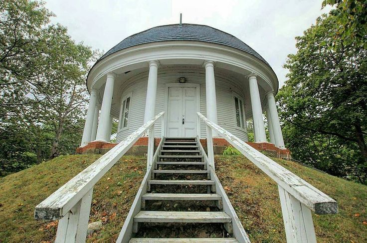 All that remains of Prince Edward, Duke of Kent's lavish Halifax estate, known as the Prince's Lodge, is this Rotunda on the Bedford Highway which was once used as a music room. Prince Edward and his French mistress Julie St. Laurent lived on the estate from 1794-1800 before Edward eventually returned to England and married a noblewoman; their only daughter inherited the throne as Queen Victoria http://www.MervEdinger.com  RE/MAX nova Halifax Real estate