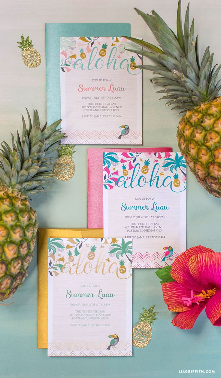 FREE Printable Luau Party Invitations | Wow your luau party guests with real Hawaiian wine from #VolcanoWinery!