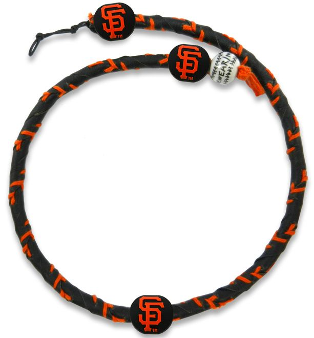San Francisco Giants Team Color Frozen Rope Baseball Necklace