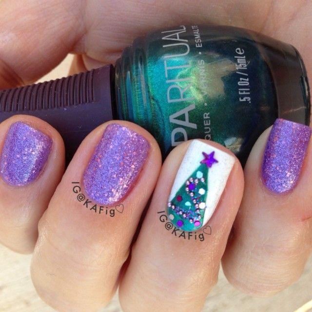 christmas by kafig #nail #nails #nailart