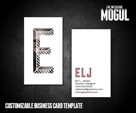 Customizable Photo Monogram biz card template: https://www.etsy.com/listing/124059944/photo-monogram-business-card