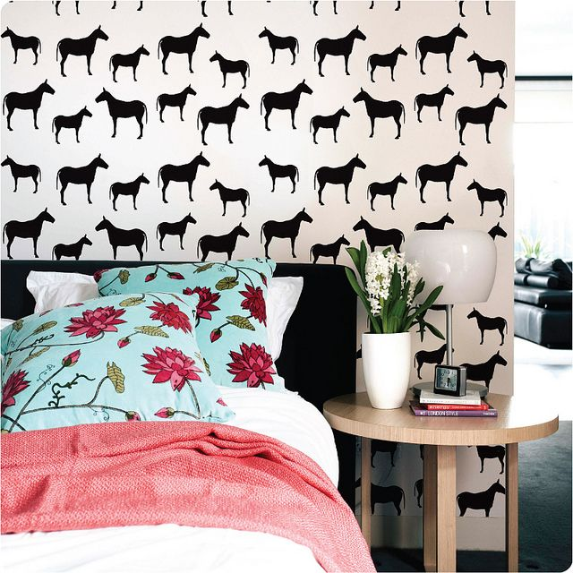 \\\ Horse print // The Wall Sticker Company by decor8, via Flickr \\\: Hors Wallpapers, Black And White, Wall Decals, Temporary Wallpaper, Removal Wallpapers, Stickers Company, Animal Prints, Horses Wallpapers, Wall Stickers