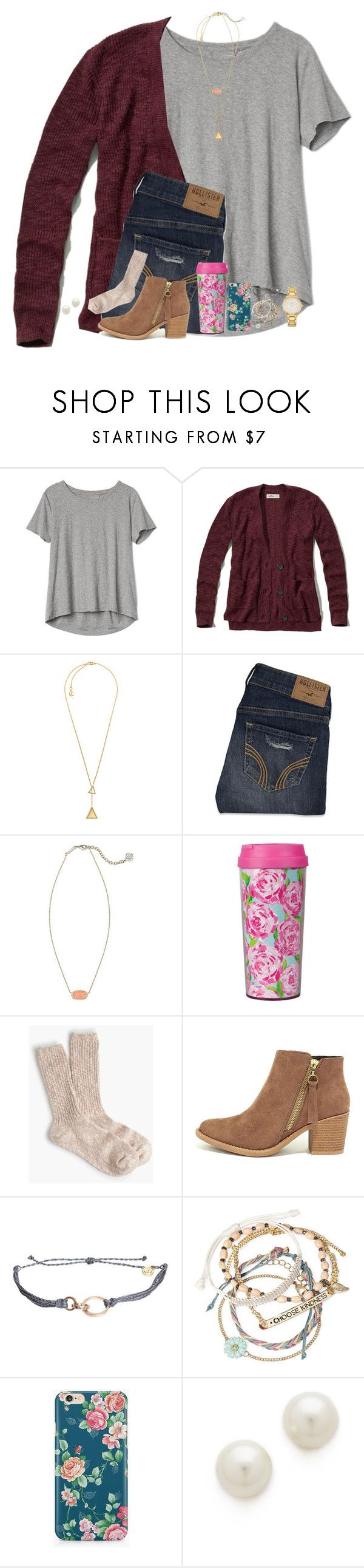 """""""Saw my ex while I was puking last night"""" by stripedprep ❤ liked on Polyvore featuring Gap, Hollister Co., Michael Kors, Kendra Scott, Lilly Pulitzer, J.Crew, LULUS, Pura Vida, Decree and Caso"""