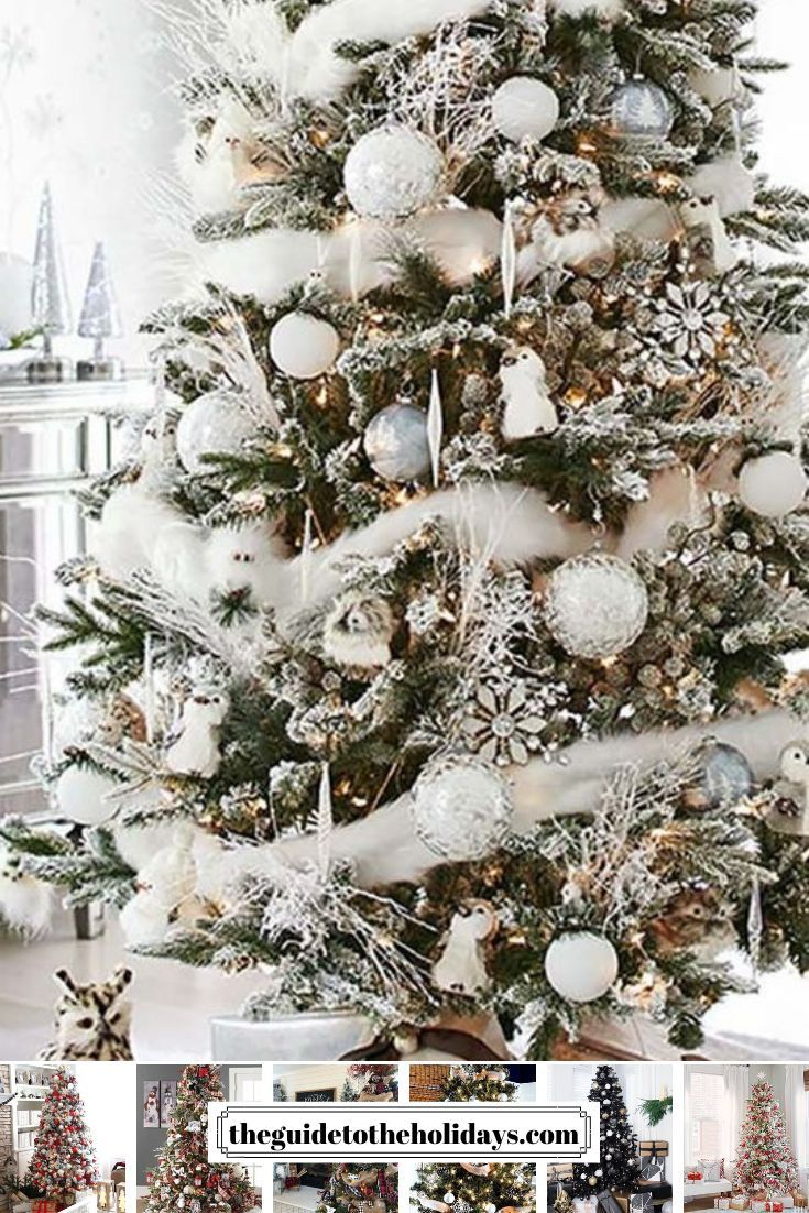 These Christmas Tree Decor Ideas Are Guaranteed To Look Stunning In Your Home White Christmas Trees Christmas Tree Inspiration White Christmas Tree Decorations