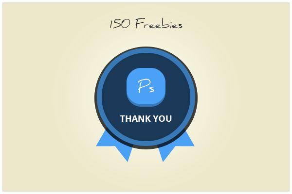150 Badge (freebie by pixelcave)