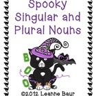 Help your students change singular nouns to plural nouns with this spooky activity.  Students read the singular noun on one bat wing and write the ...