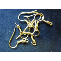 Gold Tone Earring Wire, Pack of 50. for R3.00