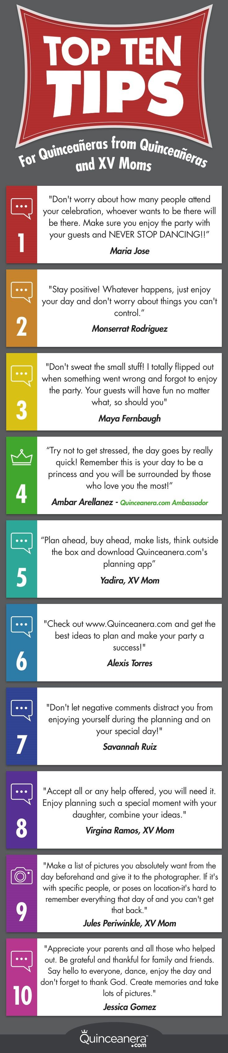 Follow these useful tips and enjoy your quinceañera to the max! - See more at: http://www.quinceanera.com/planning/useful-tips-quince-day/#sthash.73Q3czgd.dpuf