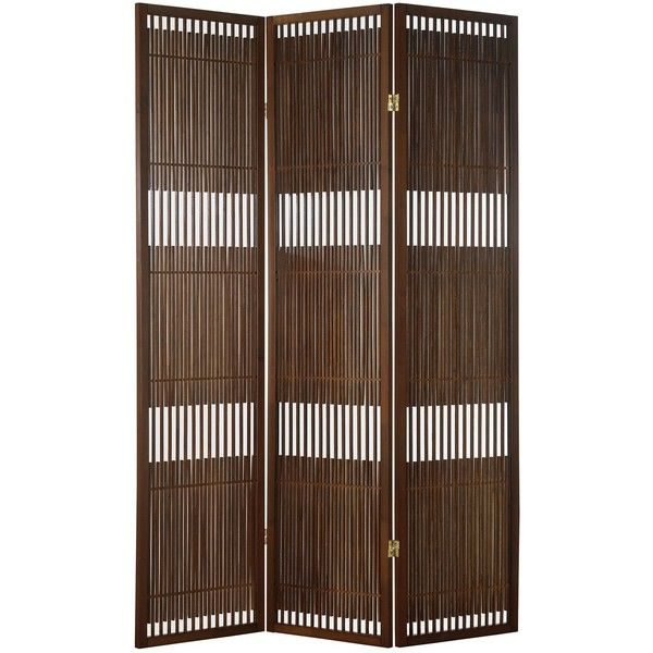 Adesso Ashville Folding Screen ($212) ❤ liked on Polyvore featuring home, home decor, panel screens, folding screen, folding room dividers, panel folding screen and adesso
