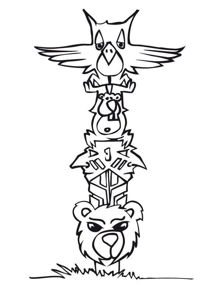 Free Printable Totem Pole Coloring