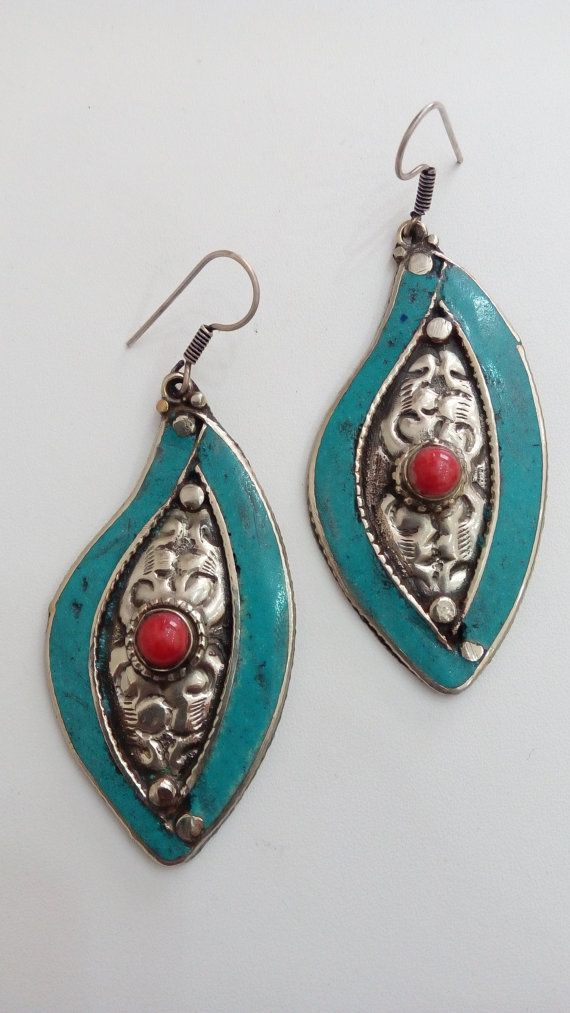 Check out this item in my Etsy shop https://www.etsy.com/listing/228491519/tibetian-earings