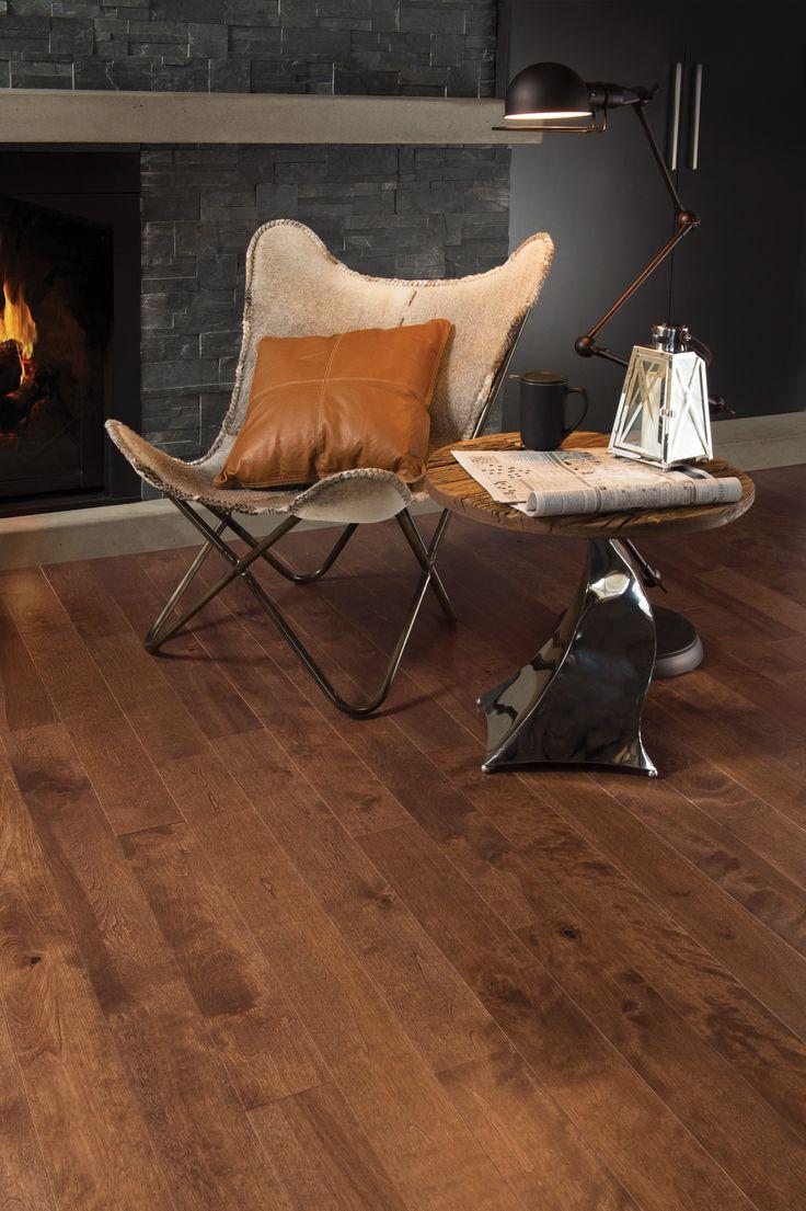 Mirage Floors, the world's finest and best hardwood floors. Aged Birch Praline #praline #agedbirch #mirage #hardwoodflooring #modern #relax
