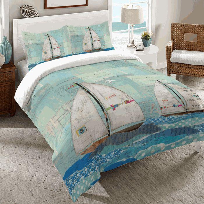 Sailboat Race Comforter - Queen