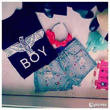 ►Outfit reme Boy & Short denim import