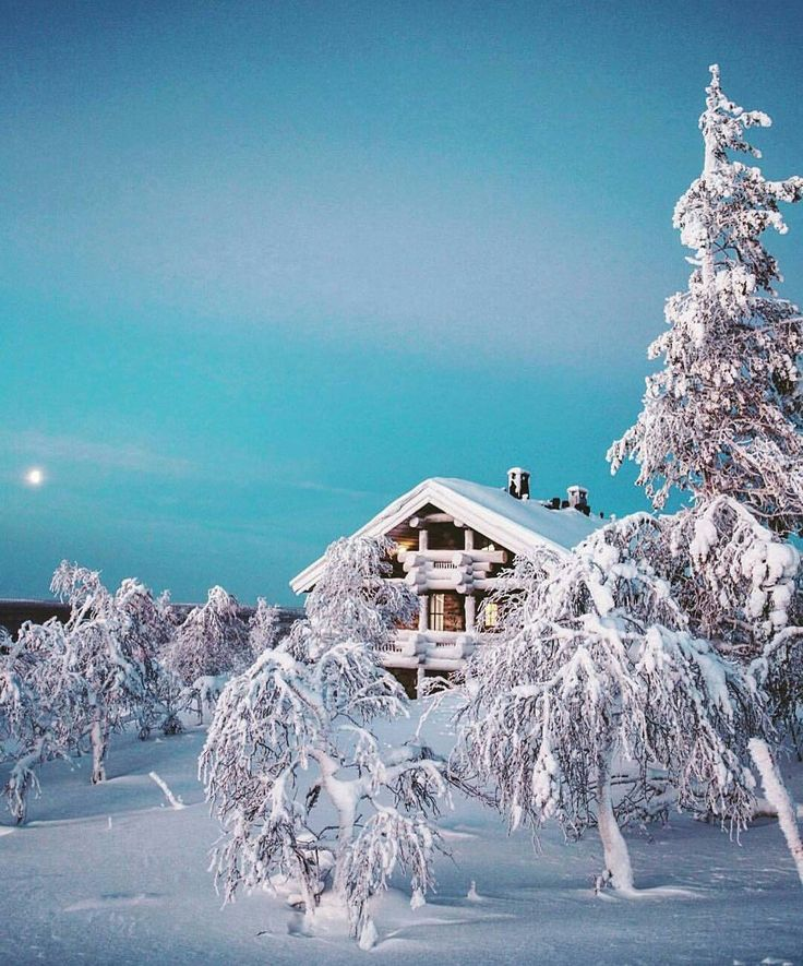 Unbelievable beautiful winter day in Saariselkä, Lapland, Finland. ⛄
