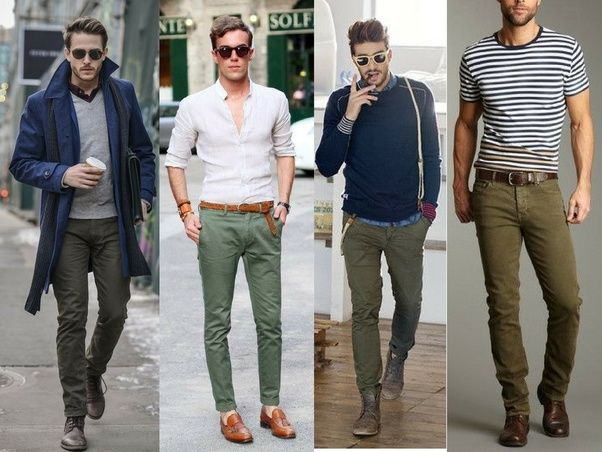 010fb9ad3e6 What colors look good with olive green pants  - Quora
