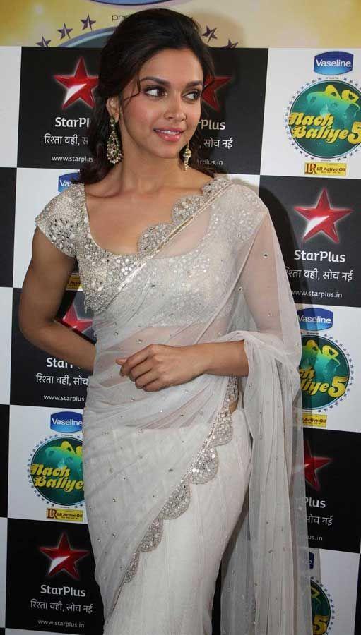Deepika Padukone White Saree | Sarees Villa