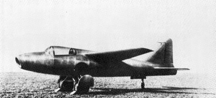 He 178 V2 prototype jet aircraft, date unknown